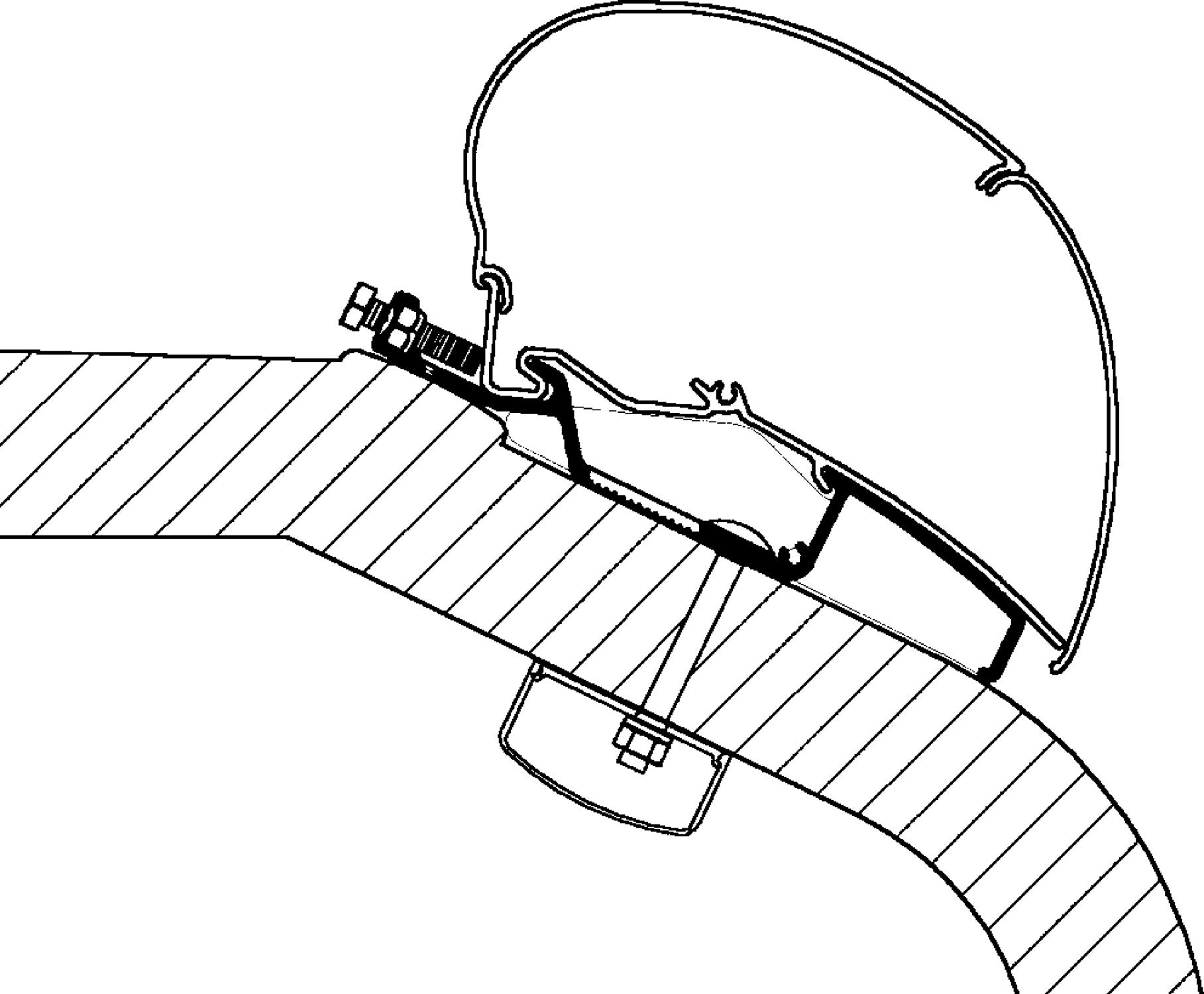 Levně Thule Střešní adaptér LMC Liberty TI / TEC pro markýzy Thule Omnistor 5,5 m