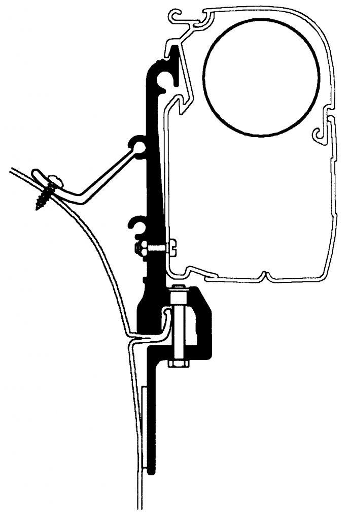 Thule Střešní adaptér Van pro markýzy Thule Omnistor
