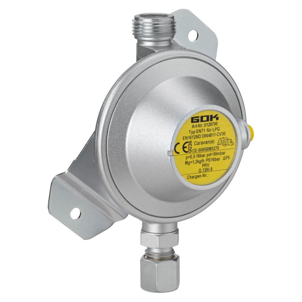 GOK Nízkotlaký regulátor Typ EN71 30 mbar 10mm