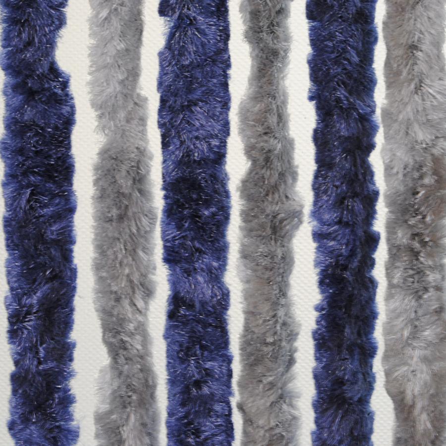 Brunner Dekorativní závěs proti hmyzu do dveří karavanu, 100x205 cm modrá/stříbrná