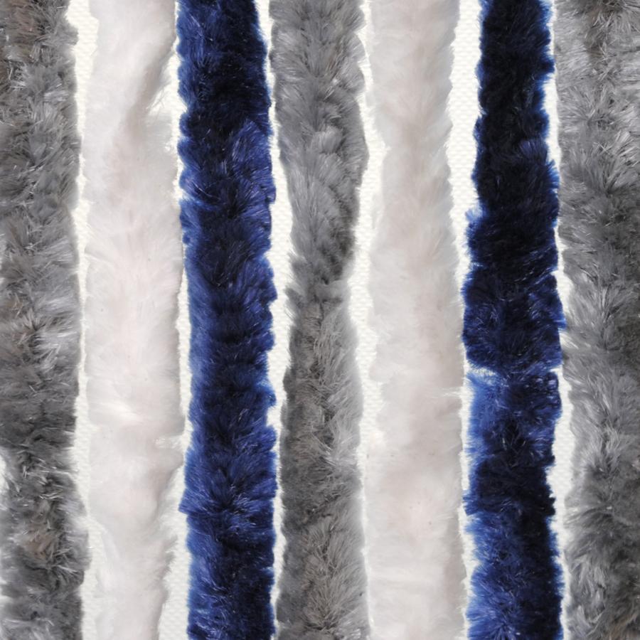 Brunner Dekorativní závěs proti hmyzu do dveří karavanu, 100x205 cm tmavěmodrá/bílá/šedá
