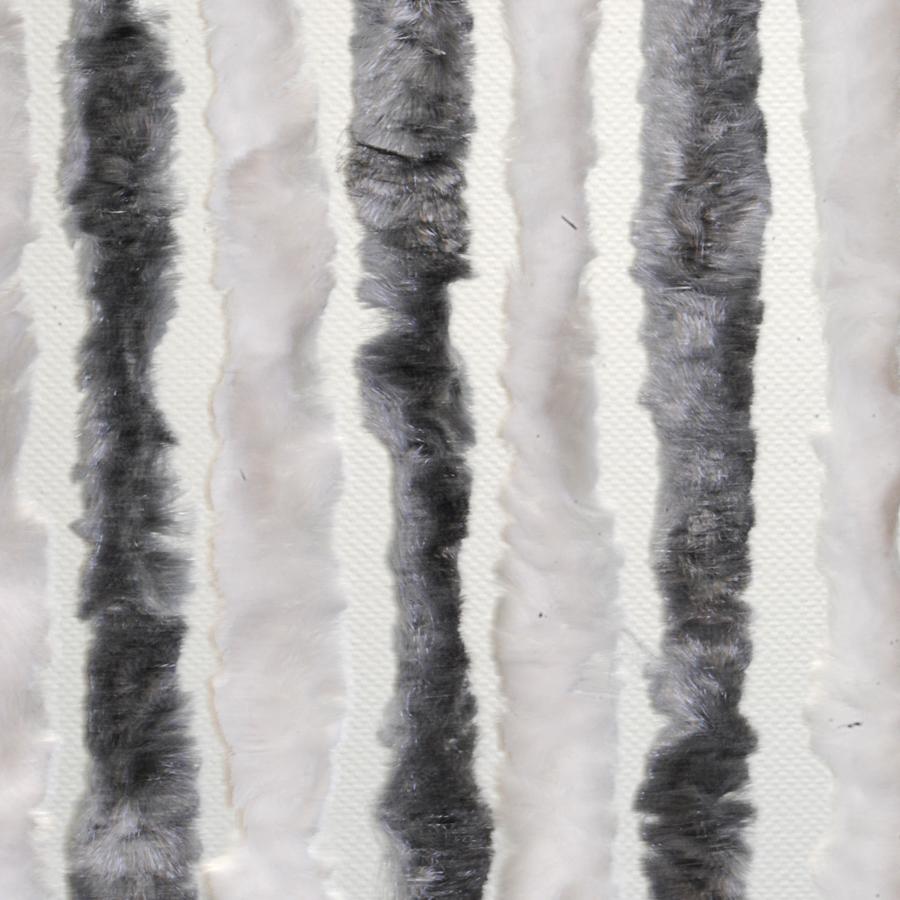 Brunner Dekorativní závěs proti hmyzu do dveří karavanu, 56x205 šedá/bílá