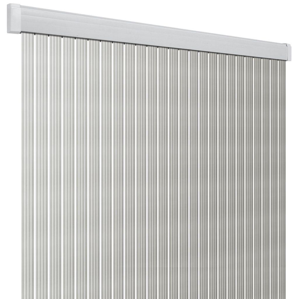 Dveřní závěs Band Lux stříbrná/bílá 100 × 220 cm