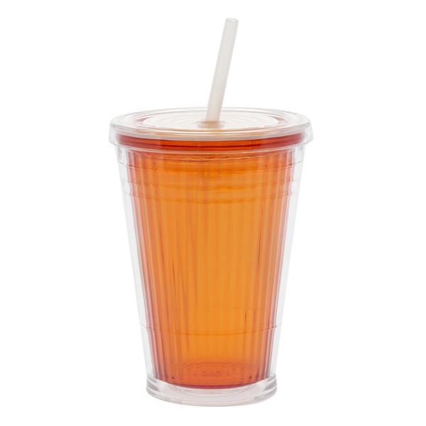 Gimex Pohárek Color Line Orange 45cl se šroubovacím víčkem